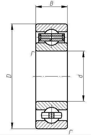 Підшипник 208 (6208)  АПП, розміри:40*80*18, фото 2