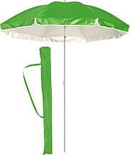 Большой пляжный садовый зонт с наклоном салатовый, 1.6 м зонтик от солнца для пляжа с доставкой