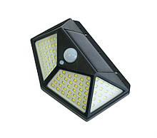 Уличный led светильник-фонарь на солнечной батарее с датчиком движения CL-100, вуличний ліхтар