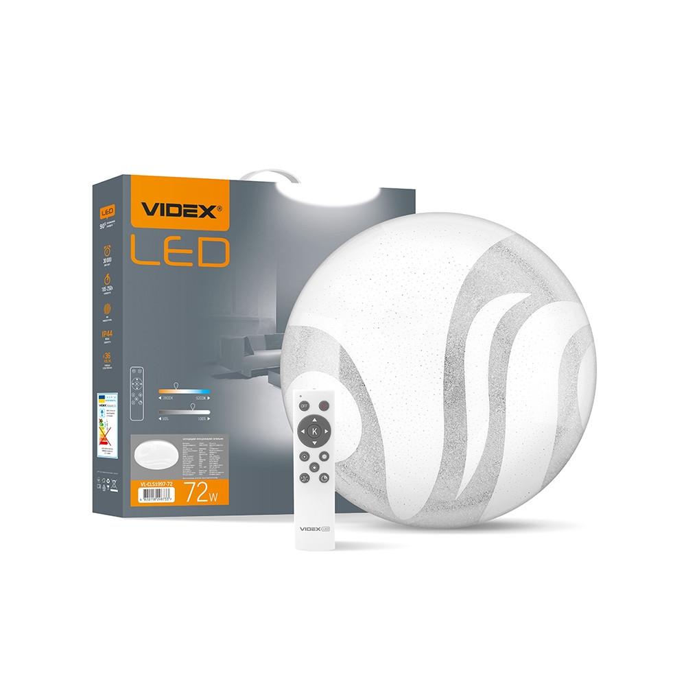 LED светильник функциональный круглый VIDEX WAVE 72W 2800-6200K