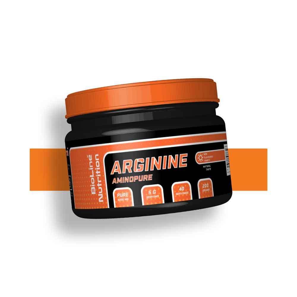 Аргинин донатор азота NO для набора массы BioLine Nutrition Германия | 200 г | 40 порций