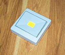 Светодиодный LED светильник-кнопка на магните и липучке Белый светодиодная ЛЕД подсветка-лампа на батарейках