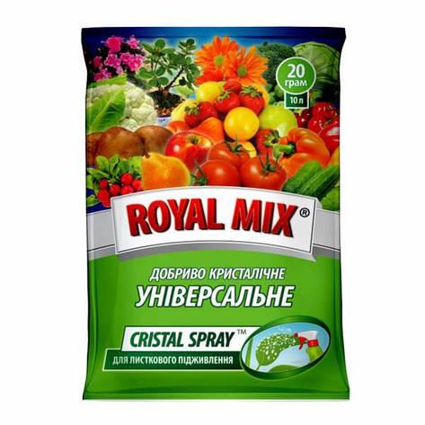 Добриво Royal Mix cristal spray універсальне (N-19;P-19;K-19;+мікроелем.+прилипач) 20г, Агрохімпак, фото 2