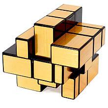 Необычный золотой кубик рубика 3x3 Cube World Magic, зеркальный кубик рубика с разными гранями   кубік рубіка