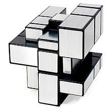 Серебряный кубик рубика с разными гранями 3x3 Cube World Magic, головоломка кубик рукиб   кубік рубік