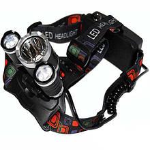 Налобный аккумуляторный фонарь Police BL-RJ3000-T6, фонарик на голову, налобный фонарь для рыбалки
