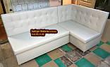 Мягкий кухонный уголок Квадро 110х180см серый, фото 2