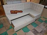 Мягкий кухонный уголок Квадро 110х180см серый, фото 4