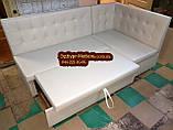 Мягкий кухонный уголок Квадро 110х180см серый, фото 5