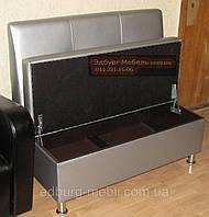 Диван для офиса с втяжками серебро Качество