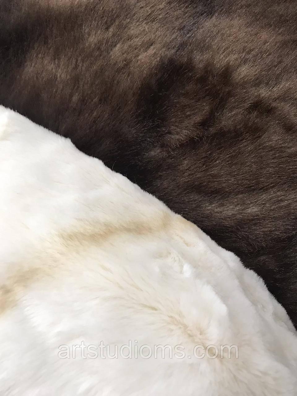 """Эко мех """"под норку"""" Искусственный мех с имитацией норки. Цвет """"шоколадный"""" Отрез 1500х1000см"""