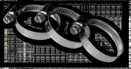 Хомут червячный нержавеющий, RIO VERDE, W2, 25-40мм,  RVW2 25-40/9