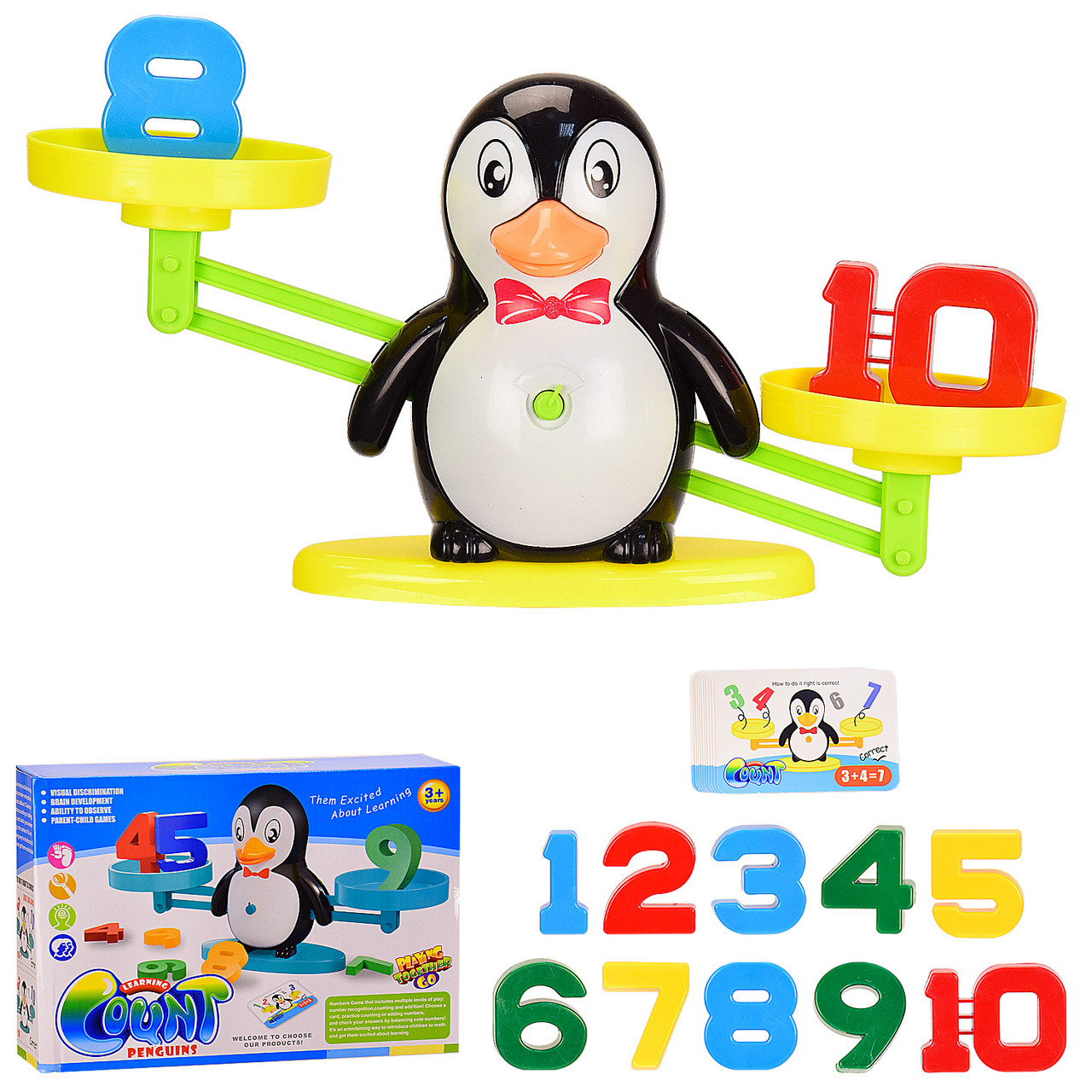 "Игра Learning Count ""Сохрани баланс"" Пингвин карточки с заданиями,  в коробке ZG987"