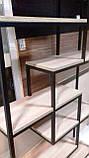 Стелаж книжковий MESS в стилі Лофт великий 1200x350x1800 полиці з ламінованого ДСП, фото 8
