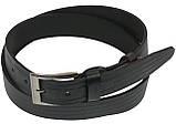 Мужской кожаный ремень под джинсы Skipper 1105-38 черный ДхШ: 134х3,8 см., фото 2