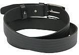 Мужской кожаный ремень под джинсы Skipper 1105-38 черный ДхШ: 134х3,8 см., фото 4