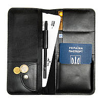 Дорожній органайзер для документів з RFID захистом LOCKER's Travel Black