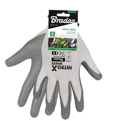 Перчатки защитные NITROX WHITE нитрил, размер  10, RWNWH10