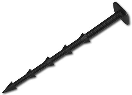 Прямий Штифт для кріплення агротканини, 25см, ATSU25+