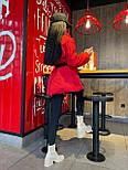 Демисезонная куртка пиджак женская с отложным воротником и карманами (р.S, M) 7101588, фото 2
