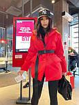 Демисезонная куртка пиджак женская с отложным воротником и карманами (р.S, M) 7101588, фото 3