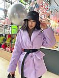 Демисезонная куртка пиджак женская с отложным воротником и карманами (р.S, M) 7101588, фото 5