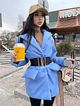 Демисезонная куртка пиджак женская с отложным воротником и карманами (р.S, M) 7101588, фото 7