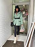 Демисезонная куртка пиджак женская с отложным воротником и карманами (р.S, M) 7101588, фото 8