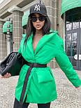 Демисезонная куртка пиджак женская с отложным воротником и карманами (р.S, M) 7101588, фото 9