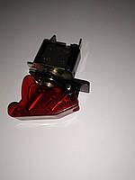 Тумблер на 2 положения 2 контакта с подсветкой и крышкой Красный