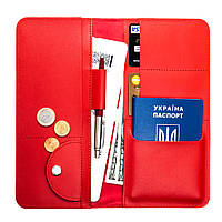 Дорожній органайзер для документів з RFID захистом LOCKER's Travel Red