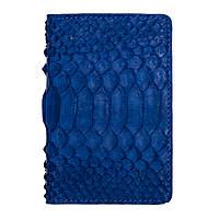 Обкладинка з RFID захистом для українського ID паспорта синя LOCKER's ID Blue Python