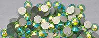 Стразы Сваровски 1440 шт, цвет:светло-зеленый хамелион, №4 (1,5 мм)