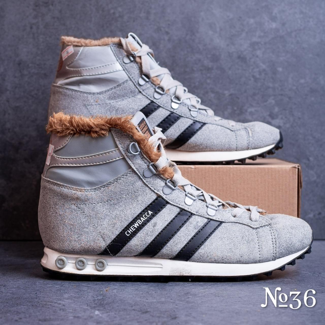 Ботинки серые  № 36