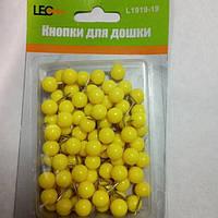 Кнопки для доски цветные шарики желтые 80 штук L1919-19 ТМ LEO 140152