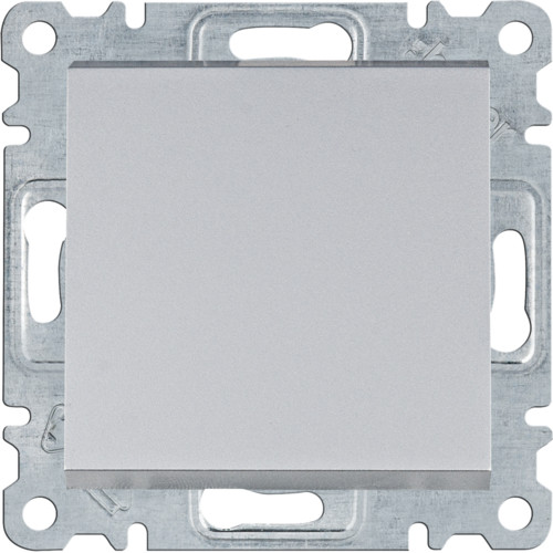 Вимикач 1-кл. універсальний Hager Lumina Сріблястий матовий