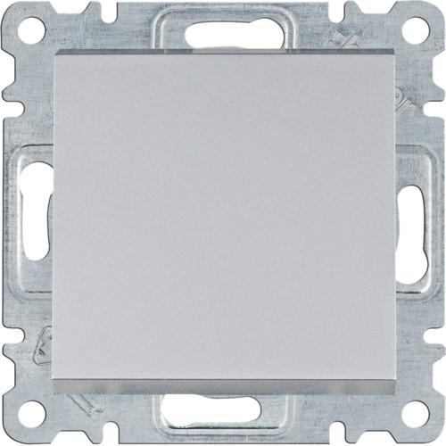 Выключатель 1-кл. универсальный Hager Lumina Серебристый матовый