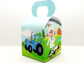 """""""Синій трактор"""" - Бонбоньерка 10/10/12 см. Ферма"""