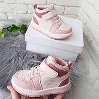 Хайтопи, черевички на дівчинку демісезонні рожеві 23 р