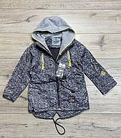 Демисезонная куртка на синтепоне ( Подкладка-флис). 134  рост.