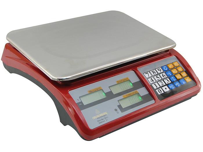 Весы Торговые Crownberg Cb-5007 50 Кг Жк-Дисплей