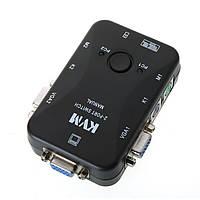 2-портовый KVM свич, переключатель PS/2 + 2 кабеля