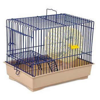 Клетка для грызунов Давид-1 синяя/бежевая, 30х20х24 см