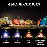 Багатофункціональний прожектор акумуляторний LED 30W LL-303 360 LED знак аварійний | Аварійка |, фото 7