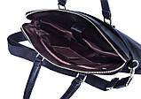 Жіноча ділова сумка, портфель з еко шкіри Villado синя, фото 5
