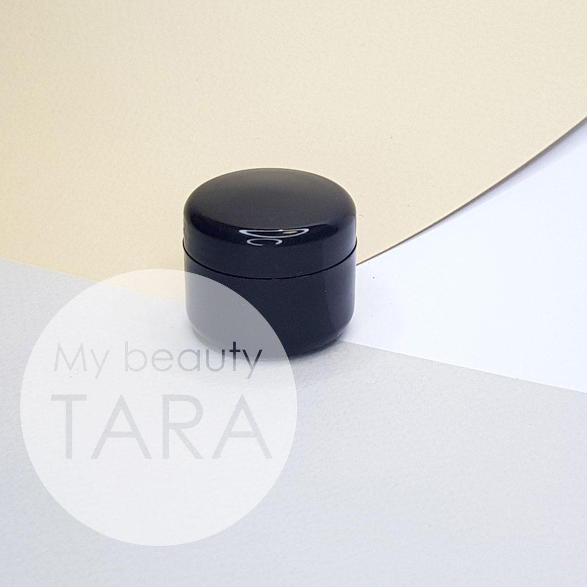 Баночка 5 мл пластикова Лаура, черная