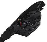Голограмная поясна сумка зі шкірозамінника Loren SS112 чорна, фото 2