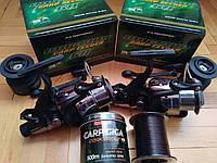 АКЦІЯ Катушка Flagman Magnum Carp Feeder 6000 (2 шт) + Волосінь Bratfishing CARP GIGA (500 м)