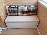 Диван для балкона с ящиком и спальным местом 1100х490мм Качество, фото 2