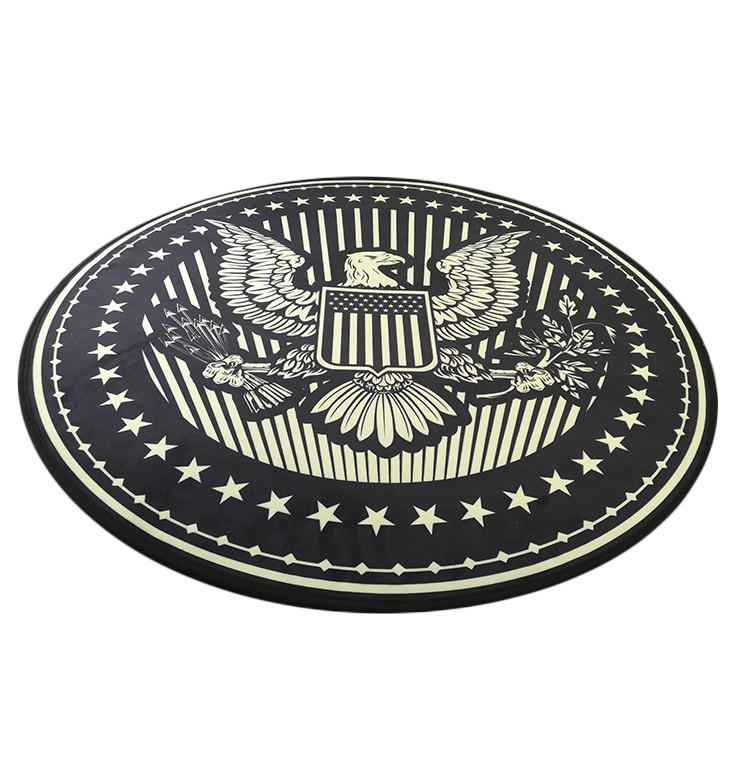 Килимок для офісного крісла Американський герб, захисний килимок для комп'ютерного крісла, А-Клас
